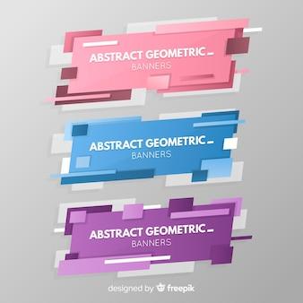 Streszczenie geometryczne banery