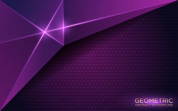 Streszczenie geometryczne ciemne fioletowe tło