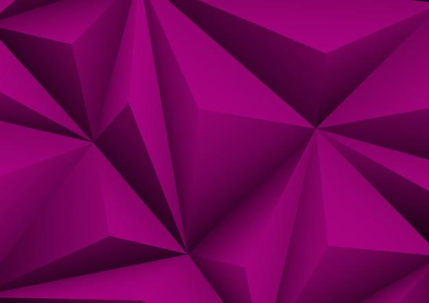 Streszczenie geometryczne fioletowe tło. złożony papier w kształcie trójkąta.