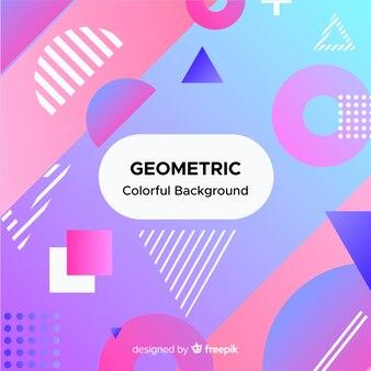 Streszczenie geometryczne kolorowe tło