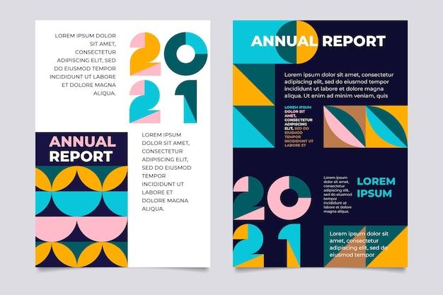 Streszczenie geometryczne szablony rocznych raportów