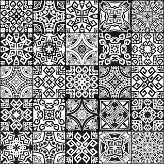 Streszczenie geometryczne tekstury bezszwowe etniczne