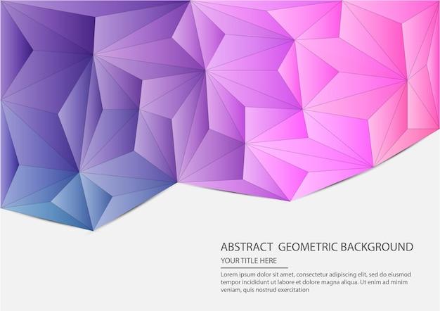 Streszczenie geometryczne tło