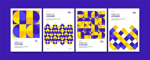 Streszczenie geometryczny biznes kolorowe obejmuje kolekcja
