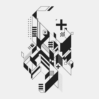 Streszczenie geometryczny element w futurystycznym stylu wyizolowanych na bia? ym tle. przydatne do drukowania i plakatów.