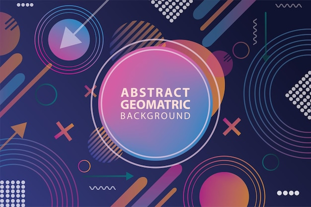 Streszczenie geometryczny futurystyczny wzór tła