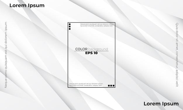 Streszczenie geometryczny kolor biały i szary tło wizualne firmy zaopatrzeniowej