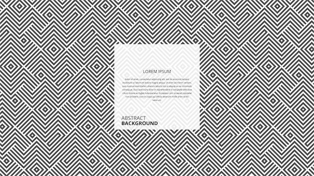 Streszczenie geometryczny kształt linii przekątnej kwadratowy wzór