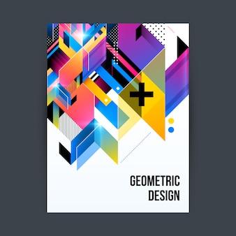 Streszczenie geometryczny plakat projektu