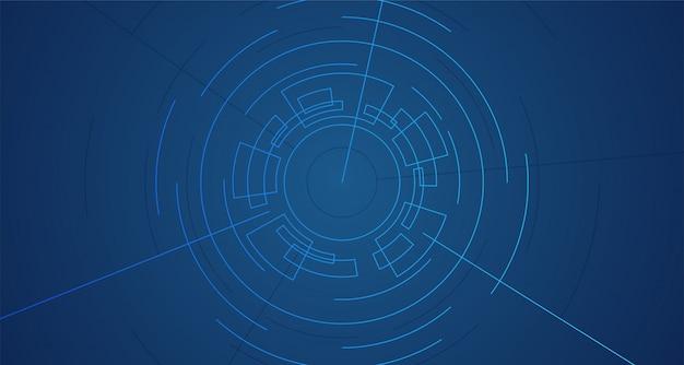 Streszczenie geometryczny wirtualny wir wirtualny portal wektor linii tła ilustracji