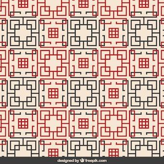 Streszczenie geometryczny wzór chiński