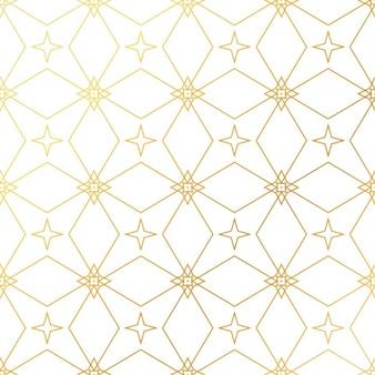 Streszczenie geometryczny wzór tła bez szwu złote złote tło