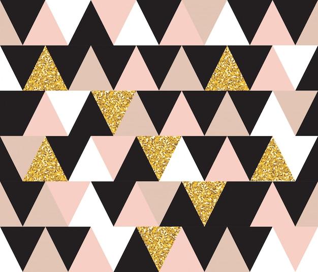 Streszczenie geometryczny wzór z elementami brokat. tapeta