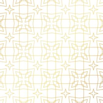 Streszczenie geometryczny wzór złoty wzór tła