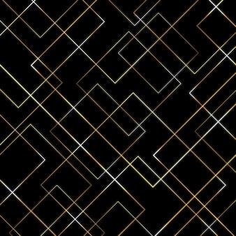 Streszczenie geometryczny wzór złotych linii
