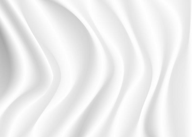 Streszczenie gładkie białe tło jedwabiu