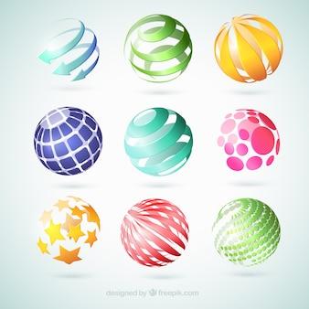 Streszczenie globusy