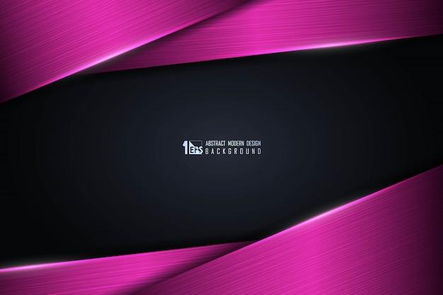 Streszczenie Gradient Różowy Technologii Projektowania Tła. Premium Wektorów