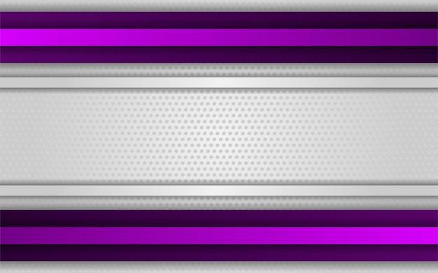 Streszczenie gradientowe białe tło z fioletową linią