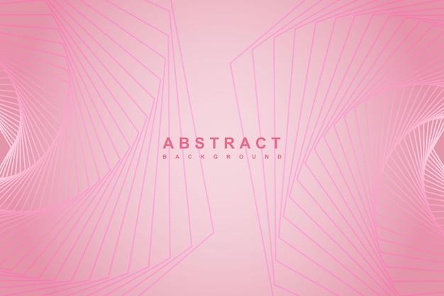 Streszczenie gradientowe różowe tło z ukośnymi liniami geometrycznymi