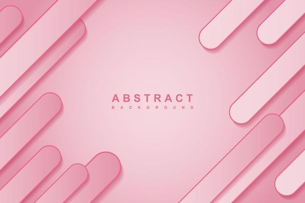 Streszczenie gradientowe różowe tło z zaokrąglonym geometrycznym kształtem 3d