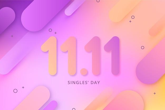 Streszczenie gradientowe wydarzenie dnia singli