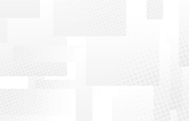 Streszczenie gradientu biały i szary kwadratowy wzór półtonów styl prezentacji. nakładające się tło dekoracyjne szablonu projektu przestrzeni. wektor ilustracja