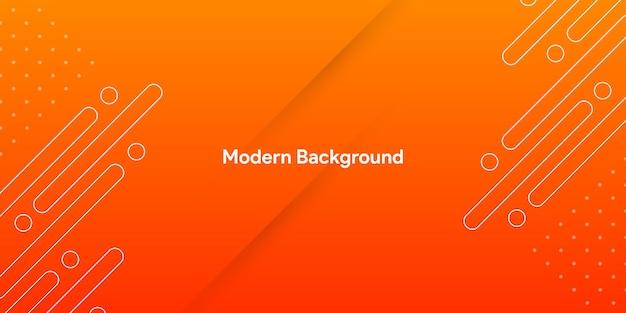 Streszczenie gradientu pomarańczy z nowoczesnym tłem linii