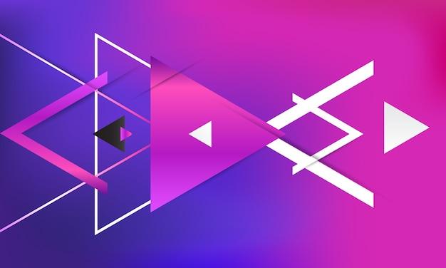 Streszczenie gradienty geometryczne tło.
