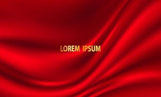 Streszczenie gradienty, tkanina czerwone fale transparent tło szablonu.