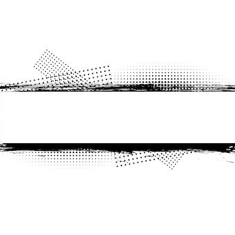 Streszczenie grunge brudne linie z tłem półtonów