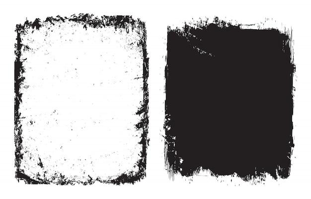 Streszczenie grunge klatek lub zestaw tła