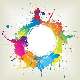 Streszczenie grunge z ikonami farb