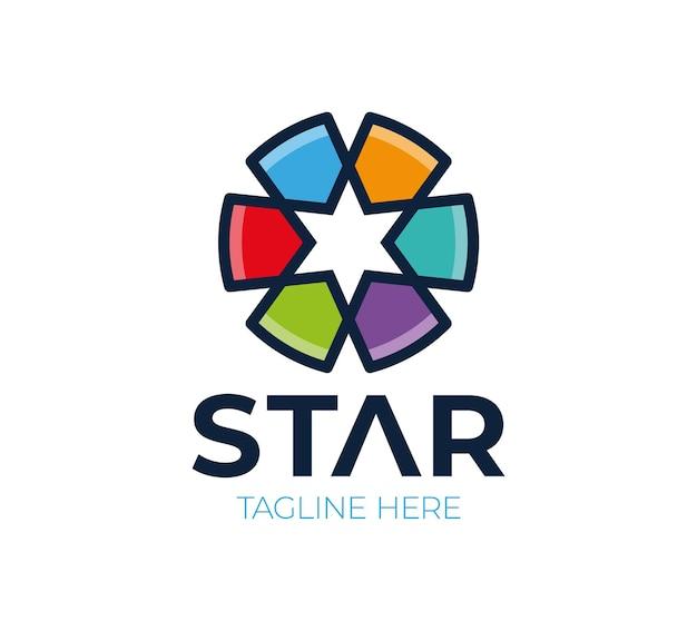 Streszczenie gwiazda logo ikona elementy szablonu projektu.