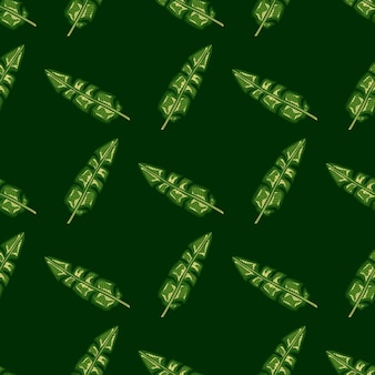 Streszczenie hawaje bezszwowe wzór liści tropikalny zielony liść bananowca.