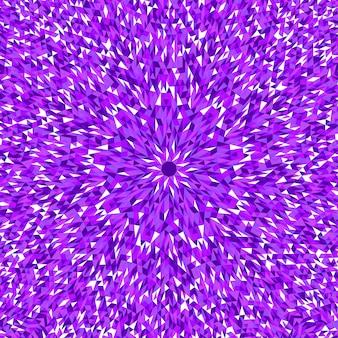 Streszczenie hipnotyczny dynamiczny okrągły trójkąt mozaiki tło
