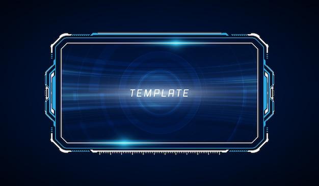 Streszczenie hud ui gui przyszłości futurystyczny system ekranów wirtualnych