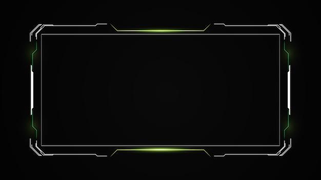 Streszczenie hud ui gui przyszłości futurystyczny system ekranu wirtualnego.