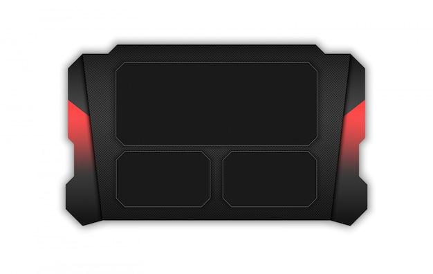 Streszczenie hud ui gui przyszłości futurystyczny system ekranu wirtualnego