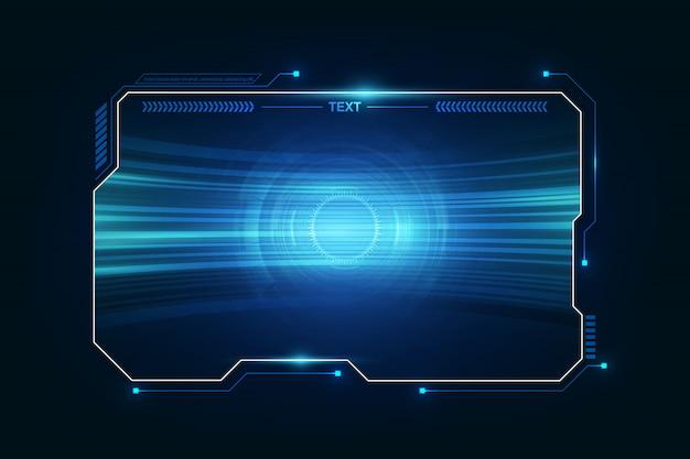 Streszczenie hud ui gui przyszłości futurystyczny system ekranu