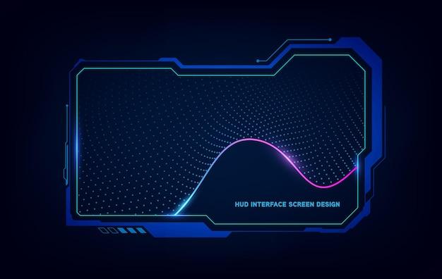 Streszczenie hud ui gui przyszłości futurystyczny system wirtualnych ekranów. ilustracja wektorowa eps10