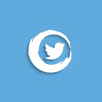 Streszczenie ikony twitter