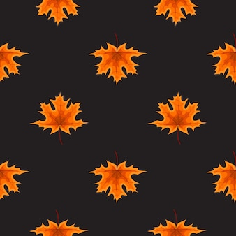 Streszczenie ilustracja jesień wzór tła z spadającymi liśćmi jesienią.