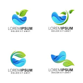 Streszczenie ilustracja logo liścia przyrody