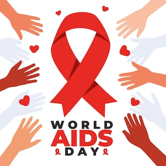 Streszczenie ilustracja światowego dnia aids