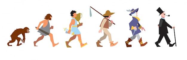 Streszczenie ilustracji ewolucji