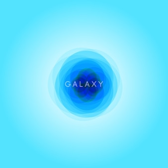 Streszczenie ilustracji galaxy, szablon logo przestrzeni, wszechświat niebieski ikona, niebieskie tło gradientowe