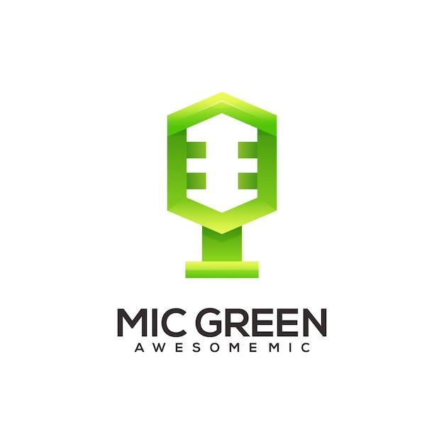 Streszczenie ilustracji gradientu logo mikrofonu