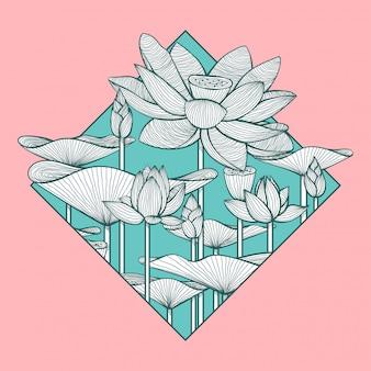 Streszczenie ilustracji lotosu