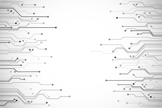 Streszczenie ilustracji płytki drukowanej technologii komputerowej